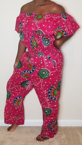 Pink Green and Blue Jumpsuit
