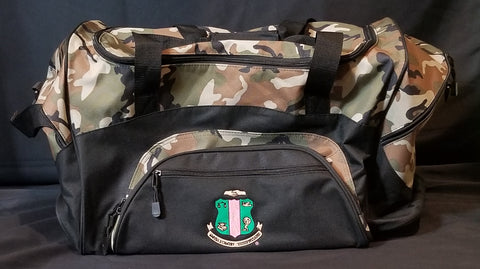 Very Spacious Military Camo / Alpha Kappa Alpha Travel Bag
