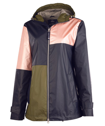 CHARLES RIVER WOMEN'S COLOR BLOCK NEW ENGLANDER® RAIN JACKET