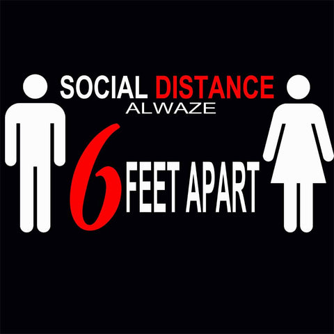 Social Distancing Alwaze Red / Available in all WHITE PRINT!!