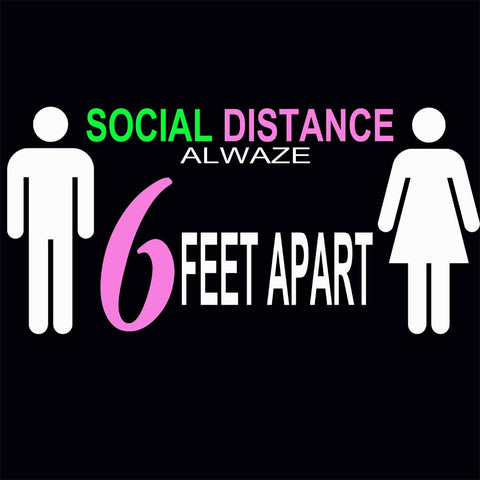 Social Distancing Alwaze Pink / Available in all WHITE PRINT!!