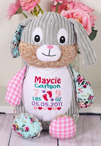 Cubbies Harlequin Collection Bunny Rabbit - Pink