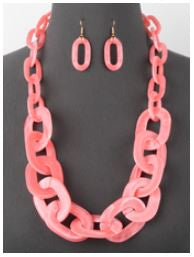 Pink Link Necklace