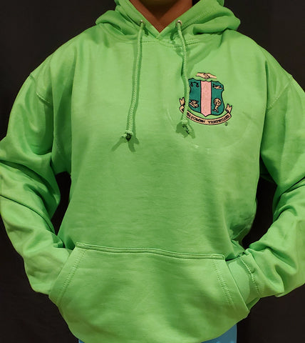 Gorgeous In Green Shield Hoodie