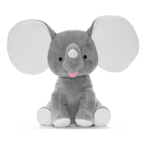 "Cubbies Dumble - 12"" Elephant w/Embroiderable Ears - Grey"