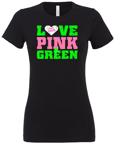 AKA Love Pink and Green T