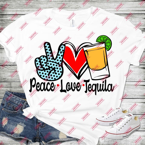 Peace Love Tequila Light