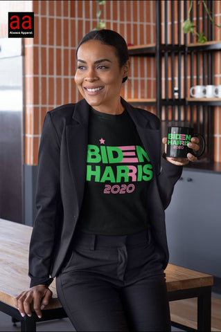 Biden Harris Pink & Green Mugs