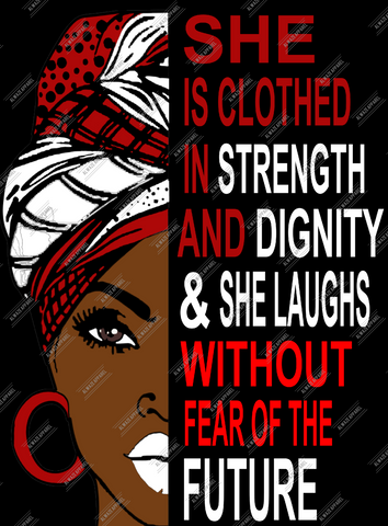 She Is Clothed In Strength RED