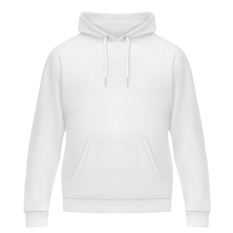 GILDAN White Hooded Sweatshirt....     Customize Lettering with our DESIGN STUDIO....     Press CUSTOMIZE IT!!