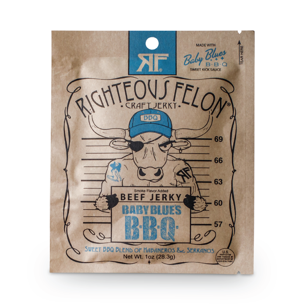 Righteous Felon 1oz BBQ Beef Jerky (16ct)