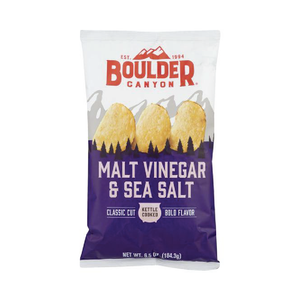 Boulder Canyon Malt Vinegar & Salt Vinegar Kettle Chips 1.5oz (55ct)