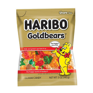 Haribo Goldbears Gummi Candy Bears 5oz (12ct)