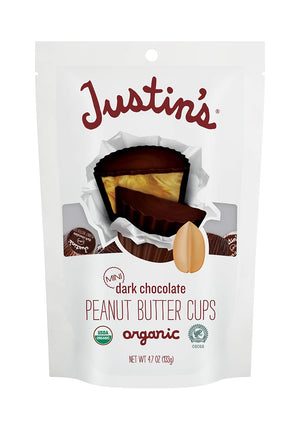 Justin's Organic Mini Dark Chocolate Peanut Butter Cups 4.7oz (6ct)