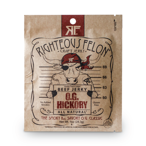 Righteous Felon 1oz Hickory Beef Jerky (16ct)