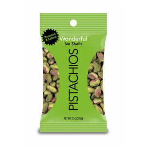 Wonderful No Shells Pistachios Roasted & Salted 2.5oz (24ct)