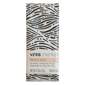 Verb Vanilla Latte Caffeinated Energy Bar 0.78oz (12ct)