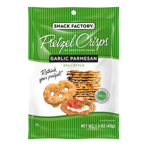 Snack Factory Garlic Parmesan Pretzel Crisps 1.5oz (24ct)