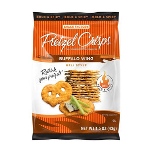 Snack Factory Buffalo Wing Pretzel Crisps 1.5oz (24ct)