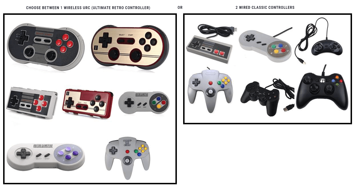 Controller Choices With Godly Mode Retro Gaming Consoles RetroEvolved RetroGame.Club