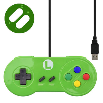 Custom-Made SNES Wired Controller (5 Different Designs Themed To Nintendo Characters)