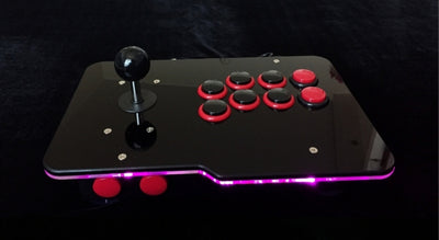 GlowBox - 1P Arcade USB Wired Controller With Glowing LED Panel