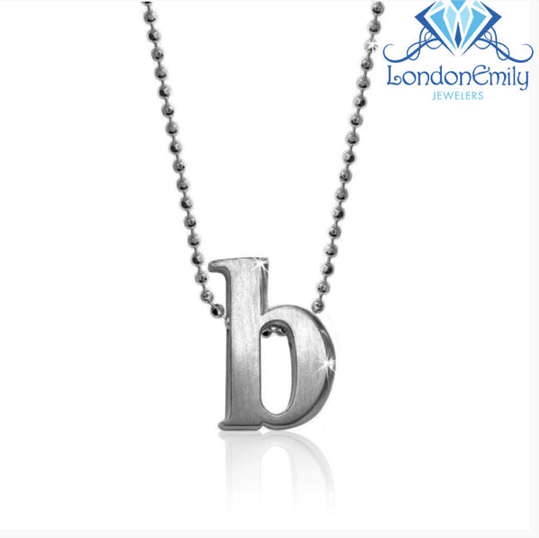 "Lil' Letter ""B"" necklace"