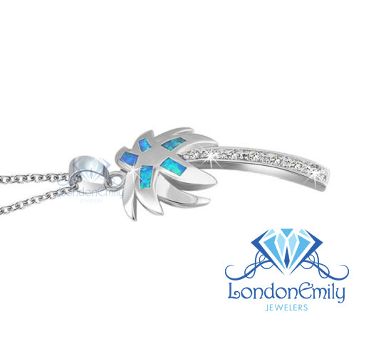 LondonEmily Jewelers Palm Tree Necklace