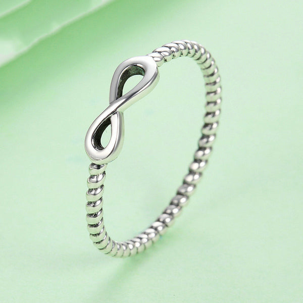 Silver Stackable Infinity Ring .925 Sterling Silver