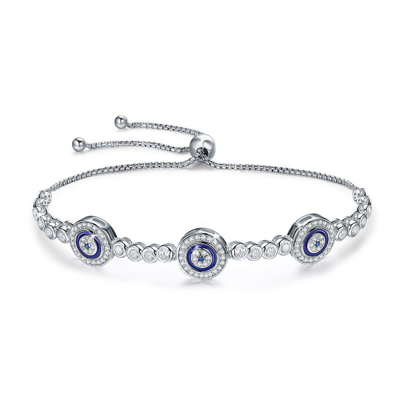 Greek Matia Tennise Bracelet .925 Sterling Silver