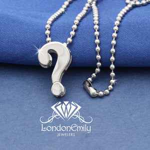 "Lil' ""Question Mark"" necklace"