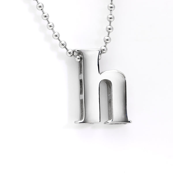 "Lil' Letter ""H"" necklace"