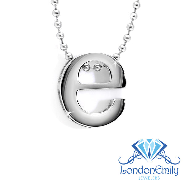 "Lil' Letter ""E"" necklace"