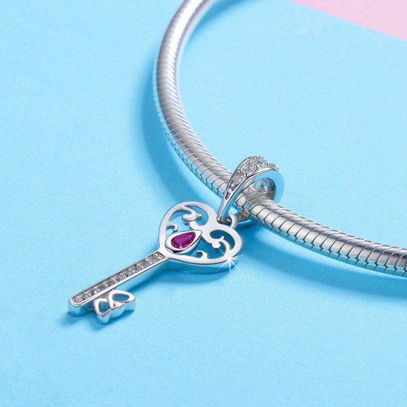 Key To My Heart Pendant Charm 925 Sterling Silver