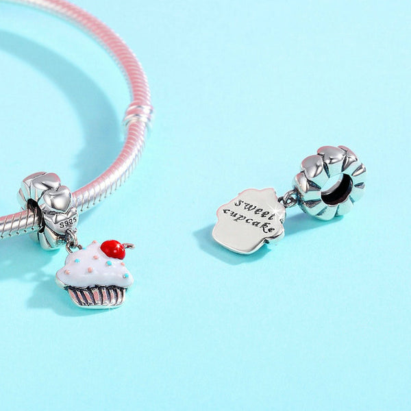 With A Cherry On Top Cup Cake Charm