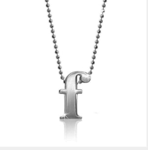 "Lil' Letter ""F"" necklace"