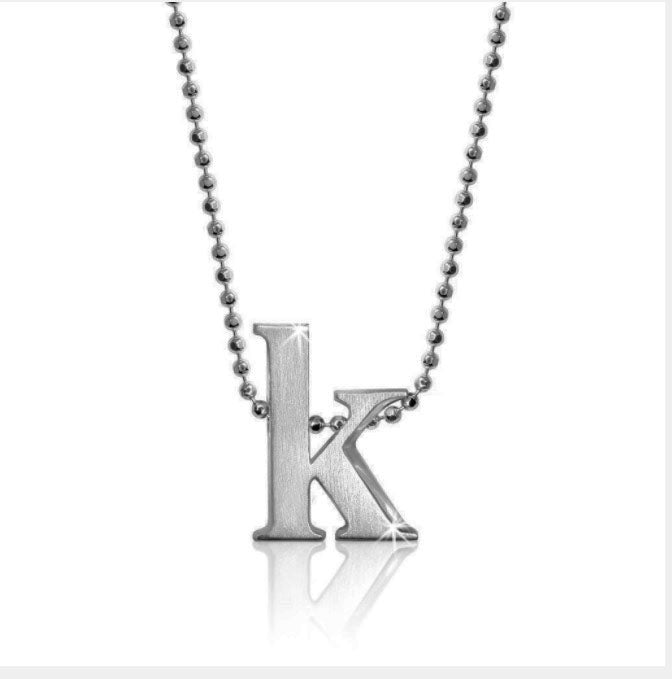 "Lil' Letter ""K"" necklace"