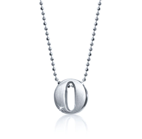 "Lil' Letter ""O"" necklace"