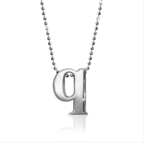 "Lil' Letter ""Q"" necklace"