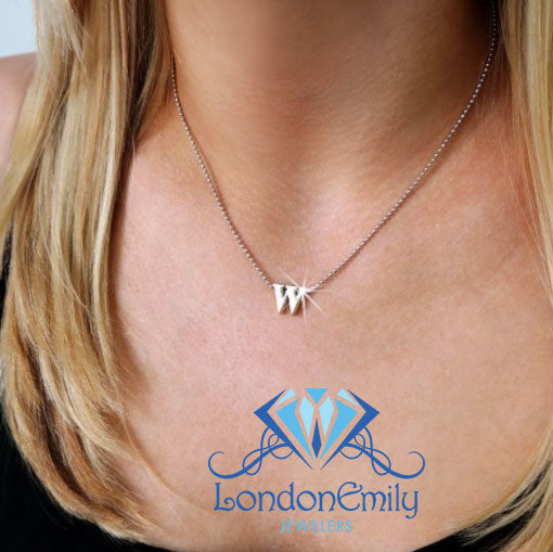 "Lil' Letter ""W"" necklace"