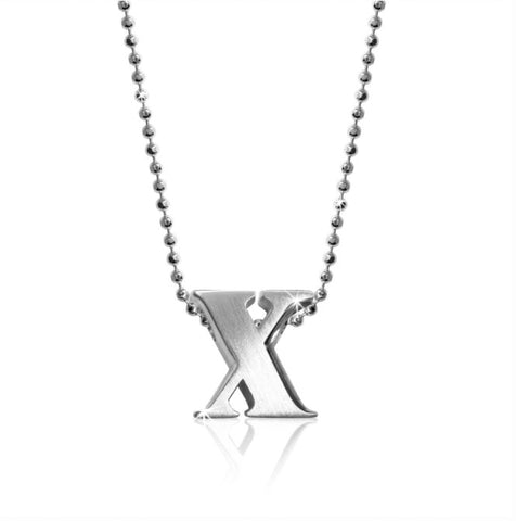 "Lil' Letter ""X"" necklace"