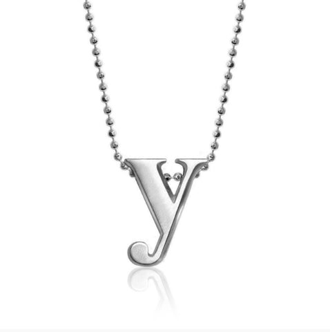 "Lil' Letter ""Y"" necklace"