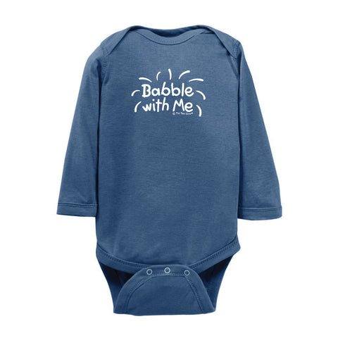 Babble With Me Onesie LS wholesale