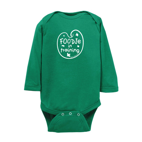 Foodie In Training Onesie LS wholesale