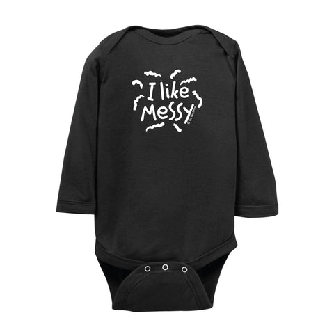 I Like Messy Onesie LS wholesale