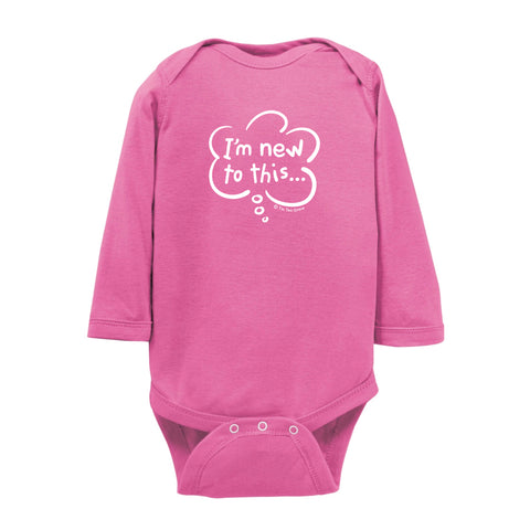I'm New To This Onesie LS wholesale