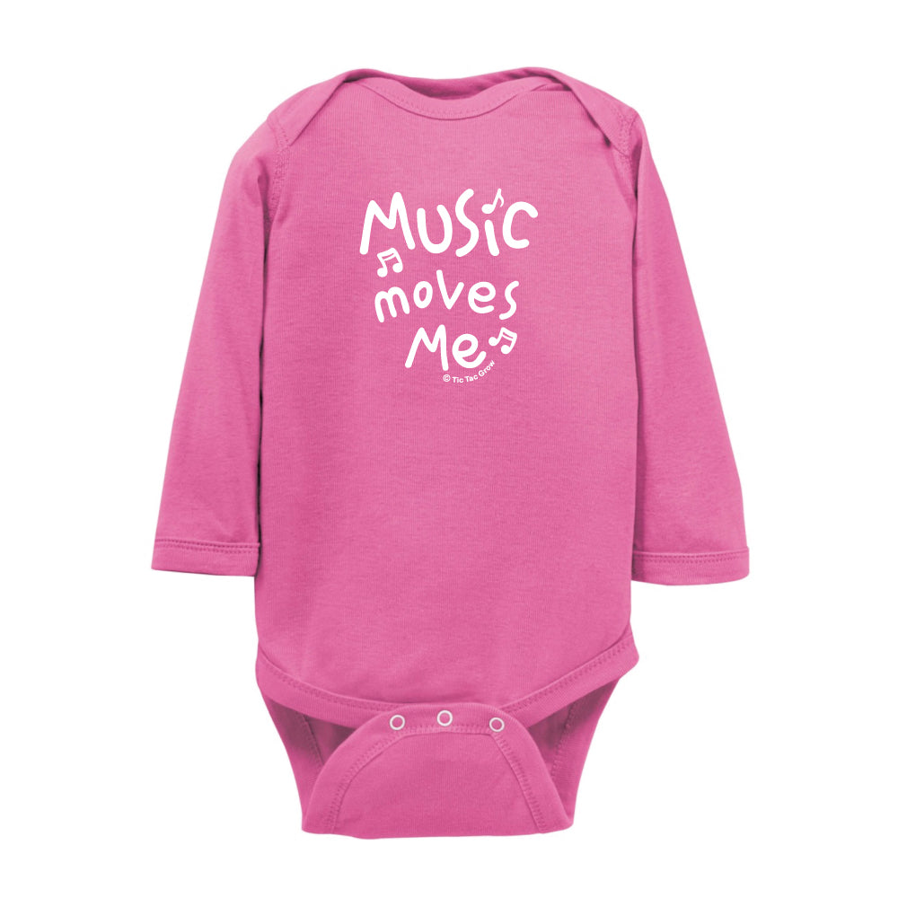 Music Moves Me Onesie LS