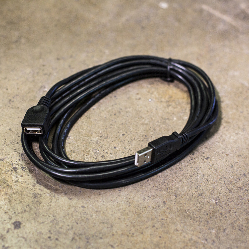 10' Black USB Extension Cable