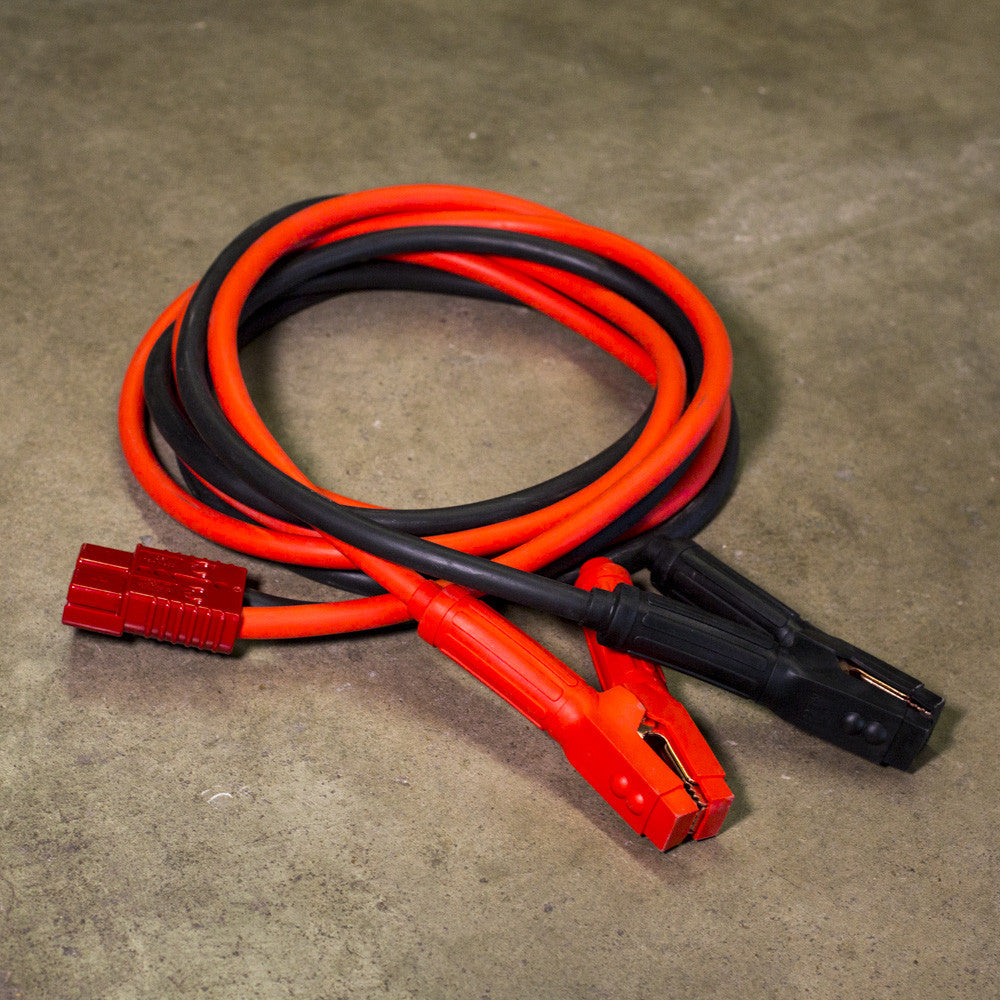 Quick Disconnect Jumpstart Cables 1 AWG 12' Heavy Duty