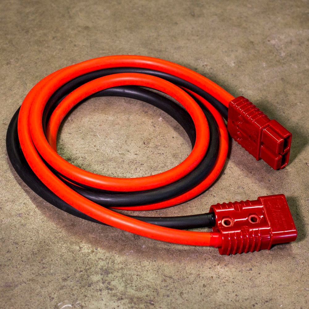Quick Disconnect Extension Cables 1 AWG 6' Heavy Duty